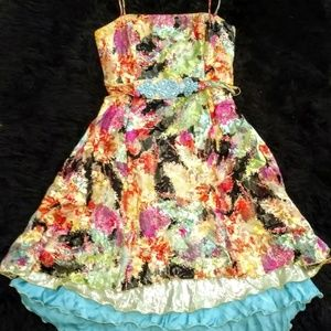 Ginger & Java Vintage Colorful Party Dress